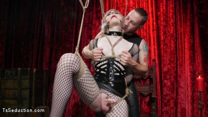 Photo number 1 from Sluts Get Fucked: New Girl Ella Hollywood Fucked by Sebastian Keys shot for TS Seduction on Kink.com. Featuring Sebastian Keys and Ella Hollywood in hardcore BDSM & Fetish porn.