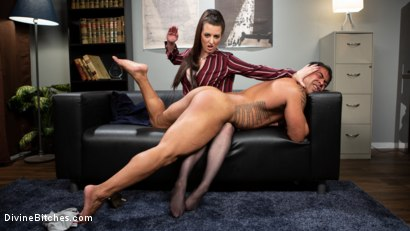Photo number 10 from Office Boy: Cherry Torn's New Stupid Beefy Boy Toy shot for Divine Bitches on Kink.com. Featuring Draven Navarro and Cherry Torn in hardcore BDSM & Fetish porn.