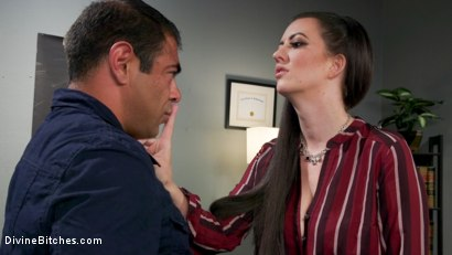 Photo number 2 from Office Boy: Cherry Torn's New Stupid Beefy Boy Toy shot for Divine Bitches on Kink.com. Featuring Draven Navarro and Cherry Torn in hardcore BDSM & Fetish porn.