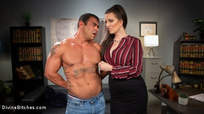 Photo number 3 from Office Boy: Cherry Torn's New Stupid Beefy Boy Toy shot for Divine Bitches on Kink.com. Featuring Draven Navarro and Cherry Torn in hardcore BDSM & Fetish porn.