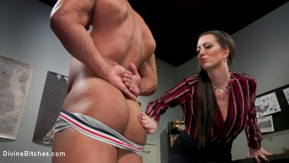 Photo number 4 from Office Boy: Cherry Torn's New Stupid Beefy Boy Toy shot for Divine Bitches on Kink.com. Featuring Draven Navarro and Cherry Torn in hardcore BDSM & Fetish porn.