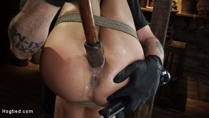 Photo number 15 from Alexis Tae's First Time Being tormented in Grueling Bondage shot for Hogtied on Kink.com. Featuring Alexis Tae in hardcore BDSM & Fetish porn.