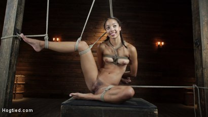 Photo number 19 from Alexis Tae's First Time Being tormented in Grueling Bondage shot for Hogtied on Kink.com. Featuring Alexis Tae in hardcore BDSM & Fetish porn.