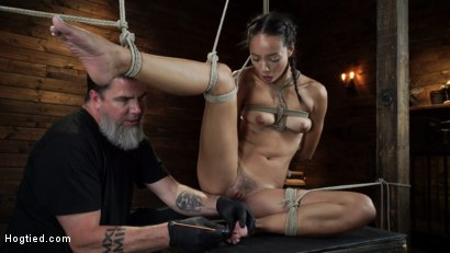 Photo number 20 from Alexis Tae's First Time Being tormented in Grueling Bondage shot for Hogtied on Kink.com. Featuring Alexis Tae in hardcore BDSM & Fetish porn.