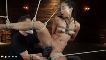 Photo number 21 from Alexis Tae's First Time Being tormented in Grueling Bondage shot for Hogtied on Kink.com. Featuring Alexis Tae in hardcore BDSM & Fetish porn.