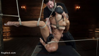 Photo number 22 from Alexis Tae's First Time Being tormented in Grueling Bondage shot for Hogtied on Kink.com. Featuring Alexis Tae in hardcore BDSM & Fetish porn.