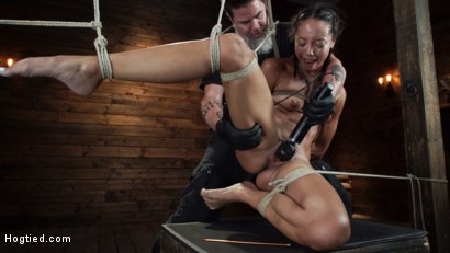 Photo number 23 from Alexis Tae's First Time Being tormented in Grueling Bondage shot for Hogtied on Kink.com. Featuring Alexis Tae in hardcore BDSM & Fetish porn.