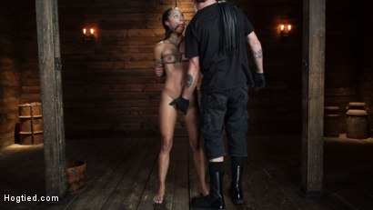 Photo number 5 from Alexis Tae's First Time Being tormented in Grueling Bondage shot for Hogtied on Kink.com. Featuring Alexis Tae in hardcore BDSM & Fetish porn.