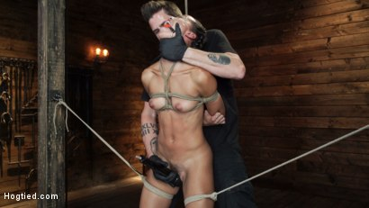 Photo number 6 from Alexis Tae's First Time Being tormented in Grueling Bondage shot for Hogtied on Kink.com. Featuring Alexis Tae in hardcore BDSM & Fetish porn.