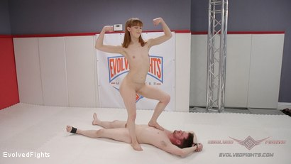 Two petite fighters throw down. The Winner pisses on the loser.