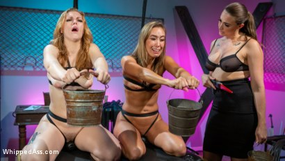 Photo number 9 from Secret Submissive: Chanel Preston, Ella Nova and Christy Love shot for Whipped Ass on Kink.com. Featuring Chanel Preston, Ella Nova  and Christy Love in hardcore BDSM & Fetish porn.