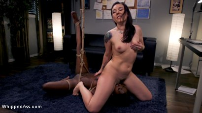 Photo number 13 from Hot Mean Lesbian Boss: Sinn Sage Takes Advantage of Noemie Bilas shot for Whipped Ass on Kink.com. Featuring Sinn Sage and Noemie Bilas in hardcore BDSM & Fetish porn.
