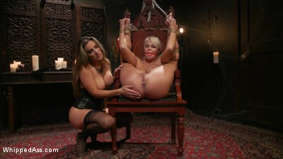 Photo number 14 from Halloween Party Surprise: Kayla Paige Returns to Whipped Ass! shot for Whipped Ass on Kink.com. Featuring London River and Kayla Paige in hardcore BDSM & Fetish porn.