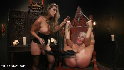 Photo number 15 from Halloween Party Surprise: Kayla Paige Returns to Whipped Ass! shot for Whipped Ass on Kink.com. Featuring London River and Kayla Paige in hardcore BDSM & Fetish porn.