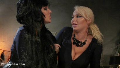 Photo number 1 from Halloween Party Surprise: Kayla Paige Returns to Whipped Ass! shot for Whipped Ass on Kink.com. Featuring London River and Kayla Paige in hardcore BDSM & Fetish porn.