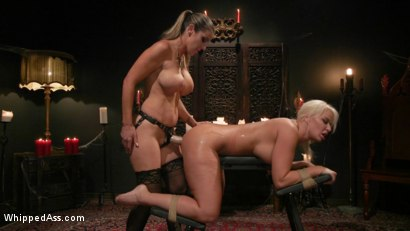 Photo number 19 from Halloween Party Surprise: Kayla Paige Returns to Whipped Ass! shot for Whipped Ass on Kink.com. Featuring London River and Kayla Paige in hardcore BDSM & Fetish porn.