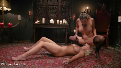 Photo number 23 from Halloween Party Surprise: Kayla Paige Returns to Whipped Ass! shot for Whipped Ass on Kink.com. Featuring London River and Kayla Paige in hardcore BDSM & Fetish porn.
