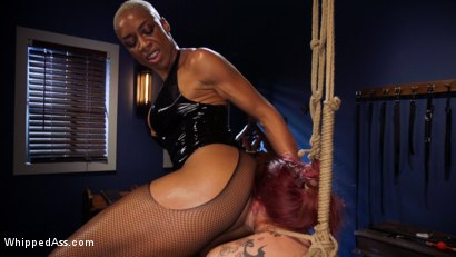 Photo number 16 from Lesbian Latex Blasphemy: Ashley Paige Whips the Sin Out Of Bella Rossi shot for Whipped Ass on Kink.com. Featuring Ashley Paige  and Bella Rossi in hardcore BDSM & Fetish porn.