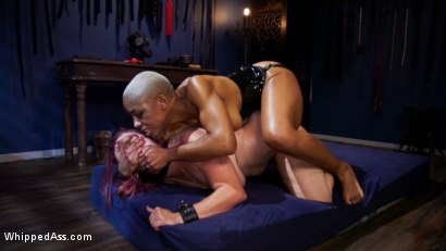 Photo number 21 from Lesbian Latex Blasphemy: Ashley Paige Whips the Sin Out Of Bella Rossi shot for Whipped Ass on Kink.com. Featuring Ashley Paige  and Bella Rossi in hardcore BDSM & Fetish porn.