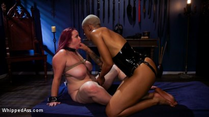 Photo number 24 from Lesbian Latex Blasphemy: Ashley Paige Whips the Sin Out Of Bella Rossi shot for Whipped Ass on Kink.com. Featuring Ashley Paige  and Bella Rossi in hardcore BDSM & Fetish porn.