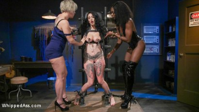 Photo number 7 from Kinky Workshop: Ana Foxxx & Dee Williams Strap-On DP Arabelle Raphael shot for Whipped Ass on Kink.com. Featuring Dee Williams, Ana Foxxx and Arabelle Raphael in hardcore BDSM & Fetish porn.