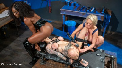 Photo number 19 from Kinky Workshop: Ana Foxxx & Dee Williams Strap-On DP Arabelle Raphael shot for Whipped Ass on Kink.com. Featuring Dee Williams, Ana Foxxx and Arabelle Raphael in hardcore BDSM & Fetish porn.