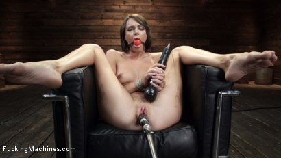Photo number 14 from Emma Hix: Sex Kitten Tied and Machine Fucked Into Oblivion shot for Fucking Machines on Kink.com. Featuring Emma Hix in hardcore BDSM & Fetish porn.