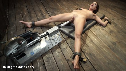 Photo number 20 from Emma Hix: Sex Kitten Tied and Machine Fucked Into Oblivion shot for Fucking Machines on Kink.com. Featuring Emma Hix in hardcore BDSM & Fetish porn.