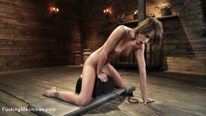 Photo number 28 from Emma Hix: Sex Kitten Tied and Machine Fucked Into Oblivion shot for Fucking Machines on Kink.com. Featuring Emma Hix in hardcore BDSM & Fetish porn.