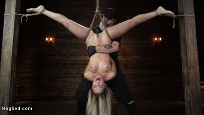 Photo number 18 from Alina Lopez: Tormented in Extreme Bondage and Made to Cum shot for Hogtied on Kink.com. Featuring Alina Lopez in hardcore BDSM & Fetish porn.