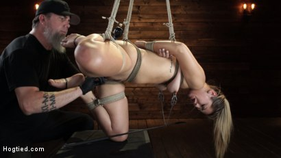 Photo number 23 from Alina Lopez: Tormented in Extreme Bondage and Made to Cum shot for Hogtied on Kink.com. Featuring Alina Lopez in hardcore BDSM & Fetish porn.