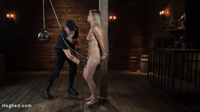 Photo number 7 from Alina Lopez: Tormented in Extreme Bondage and Made to Cum shot for Hogtied on Kink.com. Featuring Alina Lopez in hardcore BDSM & Fetish porn.