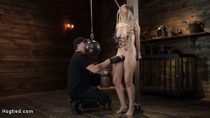 Photo number 9 from Alina Lopez: Tormented in Extreme Bondage and Made to Cum shot for Hogtied on Kink.com. Featuring Alina Lopez in hardcore BDSM & Fetish porn.