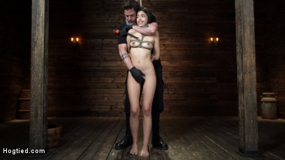 Photo number 1 from Harmony Wonder: 19 Year Old Tormented and Cums in Grueling Bondage shot for Hogtied on Kink.com. Featuring Harmony Wonder in hardcore BDSM & Fetish porn.