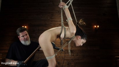 Photo number 13 from Harmony Wonder: 19 Year Old Tormented and Cums in Grueling Bondage shot for Hogtied on Kink.com. Featuring Harmony Wonder in hardcore BDSM & Fetish porn.