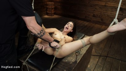 Photo number 22 from Harmony Wonder: 19 Year Old Tormented and Cums in Grueling Bondage shot for Hogtied on Kink.com. Featuring Harmony Wonder in hardcore BDSM & Fetish porn.
