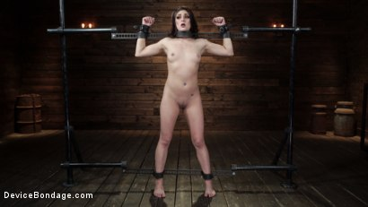 Photo number 1 from Nikki Knightly: Girl Next Door Gone Goth is Bound and Tormented shot for Device Bondage on Kink.com. Featuring Nikki Knightly in hardcore BDSM & Fetish porn.