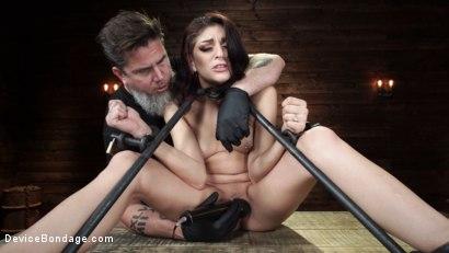 Photo number 10 from Nikki Knightly: Girl Next Door Gone Goth is Bound and Tormented shot for Device Bondage on Kink.com. Featuring Nikki Knightly in hardcore BDSM & Fetish porn.