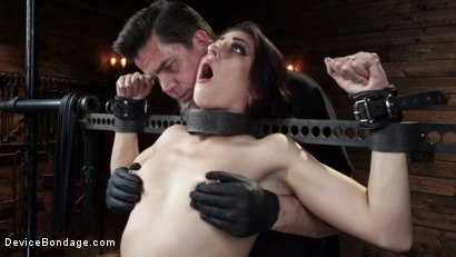 Photo number 2 from Nikki Knightly: Girl Next Door Gone Goth is Bound and Tormented shot for Device Bondage on Kink.com. Featuring Nikki Knightly in hardcore BDSM & Fetish porn.