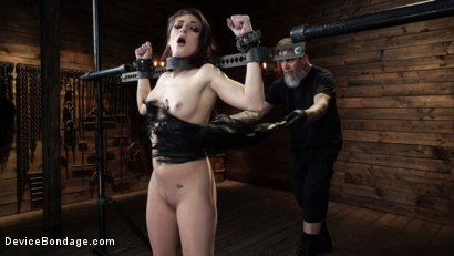 Photo number 4 from Nikki Knightly: Girl Next Door Gone Goth is Bound and Tormented shot for Device Bondage on Kink.com. Featuring Nikki Knightly in hardcore BDSM & Fetish porn.