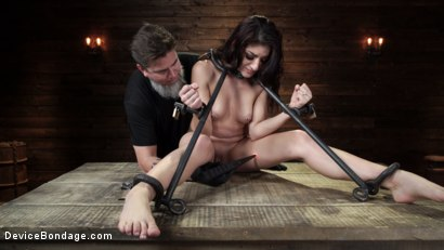 Photo number 8 from Nikki Knightly: Girl Next Door Gone Goth is Bound and Tormented shot for Device Bondage on Kink.com. Featuring Nikki Knightly in hardcore BDSM & Fetish porn.