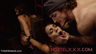 Hostelxxx Sydney Cole & Olivia Lua - Jacked and Bound at the Hostel