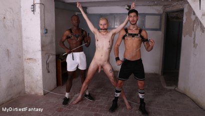 Cute Twink Takes Man Punishment, Ball Gag, Nipple Clamps, Hot Piss!