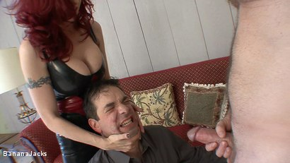 MAKING HUBBY SUCK OFF HIS BOSS