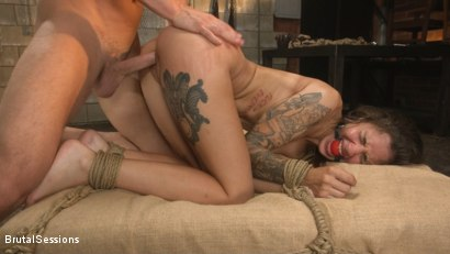 Photo number 17 from Anal Pig: Luna Lovely Abused in Rough Sex and Brutal Rope Bondage shot for Brutal Sessions on Kink.com. Featuring Seth Gamble and Luna Lovely in hardcore BDSM & Fetish porn.