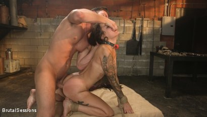 Photo number 22 from Anal Pig: Luna Lovely Abused in Rough Sex and Brutal Rope Bondage shot for Brutal Sessions on Kink.com. Featuring Seth Gamble and Luna Lovely in hardcore BDSM & Fetish porn.
