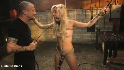 Photo number 1 from Sophia Grace: All-Natural Blonde Power Fucked in Rope Bondage shot for Brutal Sessions on Kink.com. Featuring Mr. Pete and Sophia Grace in hardcore BDSM & Fetish porn.