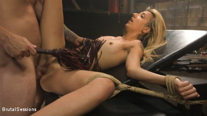 Photo number 16 from Sophia Grace: All-Natural Blonde Power Fucked in Rope Bondage shot for Brutal Sessions on Kink.com. Featuring Mr. Pete and Sophia Grace in hardcore BDSM & Fetish porn.