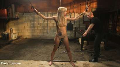 Photo number 4 from Sophia Grace: All-Natural Blonde Power Fucked in Rope Bondage shot for Brutal Sessions on Kink.com. Featuring Mr. Pete and Sophia Grace in hardcore BDSM & Fetish porn.