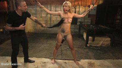 Photo number 6 from Sophia Grace: All-Natural Blonde Power Fucked in Rope Bondage shot for Brutal Sessions on Kink.com. Featuring Mr. Pete and Sophia Grace in hardcore BDSM & Fetish porn.